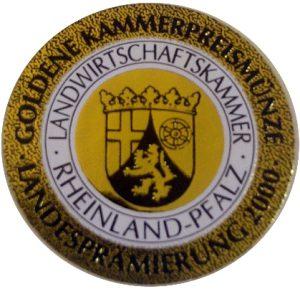 Goldene Kammerpreismünze der Landesprämierung
